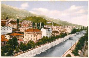 AK / Ansichtskarte Sarajevo Miljacka Sarajevo