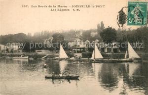 AK / Ansichtskarte Joinville le Pont Bords de la Marne Les Regates Joinville le Pont