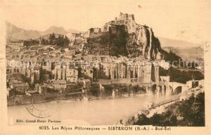AK / Ansichtskarte Sisteron Panorama Sisteron