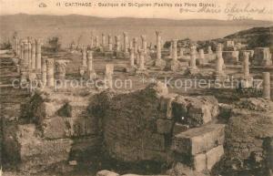 AK / Ansichtskarte Carthage_Karthago Basilique de Saint Cyprien Fouilles des Peres Blancs Ruines Carthage Karthago