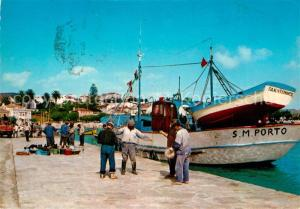 AK / Ansichtskarte Sao_Martinho_do_Porto Preparativos para a pesca