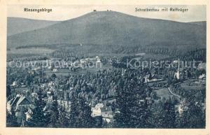 AK / Ansichtskarte Schreiberhau_Niederschlesien Panorama mit Reiftraeger Riesengebirge Schreiberhau