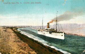 AK / Ansichtskarte Suez_Canal_de Courbe pres Ismailia