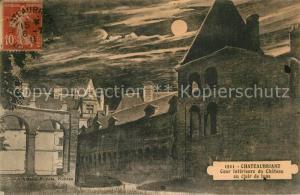 AK / Ansichtskarte Chateaubriant Cour interieure du Chateau au clair de lune Chateaubriant