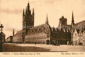 AK / Ansichtskarte Ypres_Ypern_West_Vlaanderen Halles aux draps en 1912 Ypres_Ypern