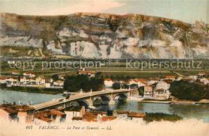 AK / Ansichtskarte Valence_Drome Pont de Crussol Valence_Drome