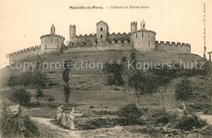 AK / Ansichtskarte Marcilly le Pave Chateau de Sainte Anne