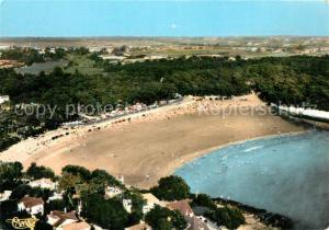 AK / Ansichtskarte Vaux_Nauzan La plage vue aerienne
