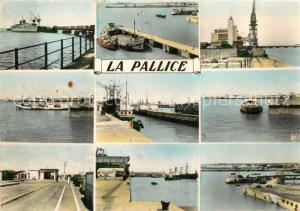 AK / Ansichtskarte La_Pallice Rochelle Paquebot au Mole Depart du Bac Embarcadere Ile de Re Port Restaurant La_Pallice Rochelle