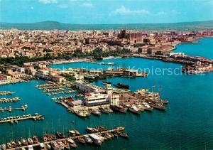 AK / Ansichtskarte Palma_de_Mallorca Vista parcial del puerto Club Nautico vista aerea Palma_de_Mallorca