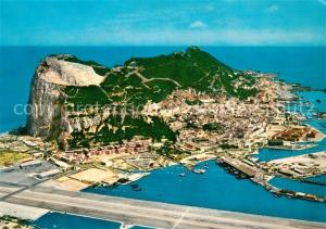 AK / Ansichtskarte Gibraltar Aerial view of Rock of Gibraltar Gibraltar