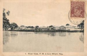AK / Ansichtskarte Australien River P.W. und Cos Wharf Australien