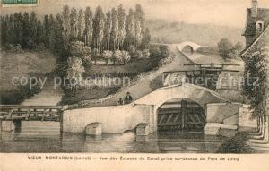 AK / Ansichtskarte Montargis_Loiret Vue des Ecluses du Canal prise au dessus du Pont de Loing Montargis Loiret