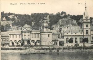 AK / Ansichtskarte Dinant_Wallonie Hotel de Ville La Poste Dinant Wallonie