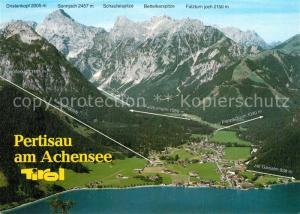 AK / Ansichtskarte Pertisau_Achensee Alpen Almen Fliegeraufnahme Pertisau Achensee
