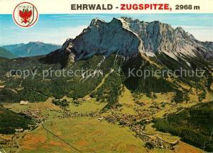 AK / Ansichtskarte Ehrwald_Tirol Zugspitze Wettersteingebirge Fliegeraufnahme Ehrwald Tirol