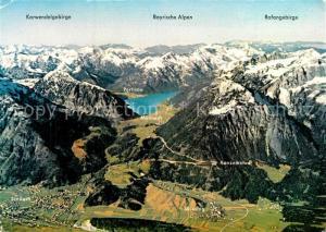 AK / Ansichtskarte Jenbach_Tirol Fliegeraufnahme mit Maurach Pertisau Karwendelgebirge Rofangebirge Jenbach Tirol