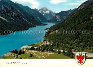 AK / Ansichtskarte Reutte_Tirol Fliegeraufnahme mit Hotel Forelle und Plansee Reutte Tirol