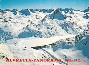 AK / Ansichtskarte Silvretta Fliegeraufnahme  Silvretta