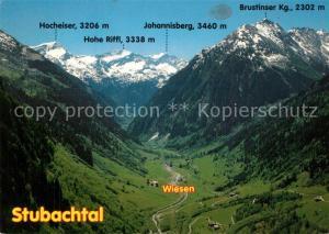 AK / Ansichtskarte Stubachtal_Tirol mit Wiesen Hocheiser Hohe Riffl Johannisberg Brustinser Kogel Stubachtal Tirol