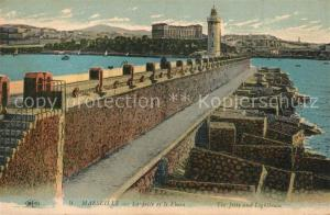 AK / Ansichtskarte Marseille_Bouches du Rhone La Jetee et le Phare Marseille