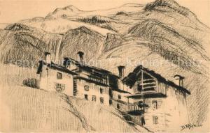 AK / Ansichtskarte Savoie Region Maisons sous les glaciers a La Gurraz