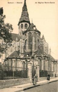 AK / Ansichtskarte Semur en Brionnais Abside de l'Eglise Notre Dame Semur en Brionnais
