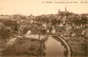 AK / Ansichtskarte Semur en Brionnais Vue generale prise du Viaduc Semur en Brionnais