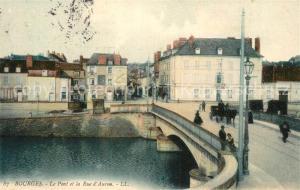 AK / Ansichtskarte Bourges Pont et Rue d`Auron Bourges