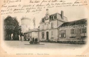 AK / Ansichtskarte Mehun sur Yevre Place du Chateau Mehun sur Yevre