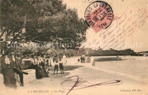 AK / Ansichtskarte La_Rochelle_Charente Maritime Plage La_Rochelle