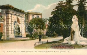 AK / Ansichtskarte Toulouse_Haute Garonne Le Jardin des Plantes La Fontaine et la Statue d'Armand Sylvestre Toulouse Haute Garonne