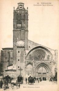 AK / Ansichtskarte Toulouse_Haute Garonne Cathedrale Saint Etienne Toulouse Haute Garonne