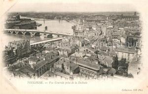 AK / Ansichtskarte Toulouse_Haute Garonne Vue generale prise de la Dalbade Toulouse Haute Garonne