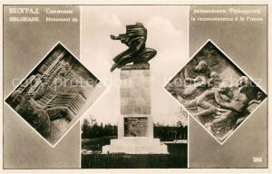 AK / Ansichtskarte Belgrade_Namur Monument de la reconnaissance a la France Belgrade Namur