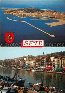 AK / Ansichtskarte Sete_Cette Vue aerienne de cette Ile Singuliere Le canal principal