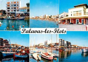 AK / Ansichtskarte Palavas les Flots_Herault Vue partielle Le Port La Plage Palavas les Flots_Herault