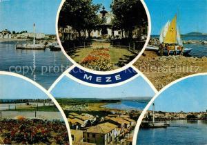 AK / Ansichtskarte Meze Village vacances Hotel de ville Ecole de Voile La Plagette Vue generale Le Port Meze