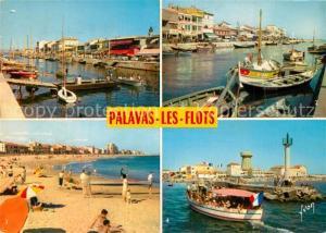 AK / Ansichtskarte Palavas les Flots_Herault Le Canal La Plage Entree du Port Palavas les Flots_Herault