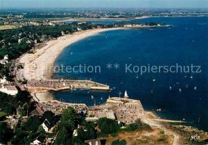 AK / Ansichtskarte Carnac_Plage Le centre nautique de Port en Dro La Grande Plage La Pointe de Beaumer Vue aerienne Carnac_Plage