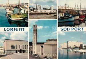 AK / Ansichtskarte Lorient_Morbihan_Bretagne Le Port L'Hotel de Ville l'Eglise St Louis Lorient_Morbihan_Bretagne