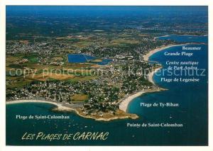 AK / Ansichtskarte Carnac_Morbihan Les Plages de Carnac Vue aerienne Carnac Morbihan