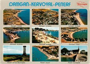 AK / Ansichtskarte Damgan La Baie Le Bourg La Plage La Pointe l'anse Penerf la Tour des Anglais Le Port La Chapelle Damgan