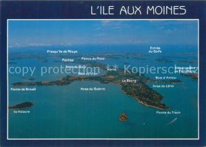 AK / Ansichtskarte Ile aux Moines Le Golfe du Morbihan Vue aerienne Ile aux Moines