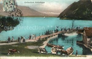AK / Ansichtskarte Aix les Bains Lac du Bourget Debarcadere de Hautecombe Aix les Bains