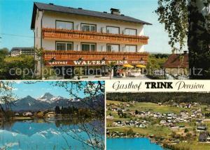 AK / Ansichtskarte Drobollach_Faaker_See Gasthof Pension Trink Drobollach_Faaker_See