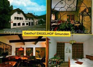 AK / Ansichtskarte Gmunden_Salzkammergut Gasthof Engelhof Fremdenzimmer Gmunden Salzkammergut