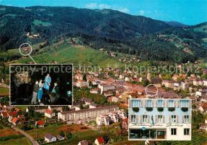 AK / Ansichtskarte Deutschlandsberg Gasthof Kollar Goebl Panorama Fliegeraufnahme Deutschlandsberg