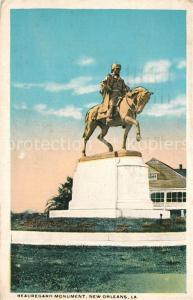 AK / Ansichtskarte New_Orleans_Louisiana Beauregard Monument