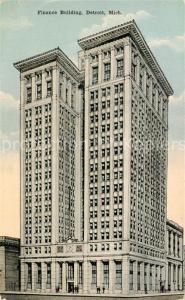 AK / Ansichtskarte Detroit_Michigan Finance Building Illustration